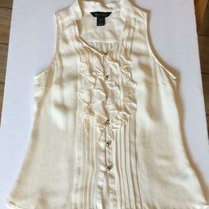 WHBM 100% Silk sleeveless blouse size S